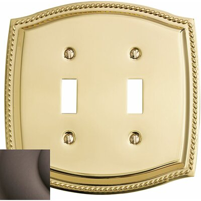Rope Design Double Toggle Switch Plate Color: Venetian Bronze
