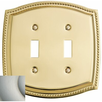 Rope Design Double Toggle Switch Plate Finish: Satin Nickel