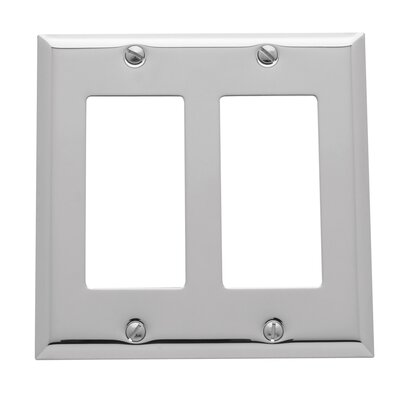 Classic Square Bevel Design Double GFCI Switch Plate Finish: Chrome