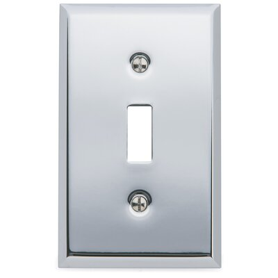 Classic Square Bevel Design Single Toggle Switch Plate Finish: Chrome