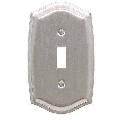 Colonial Design Single Switch Wall Plate Finish: Satin Nickel