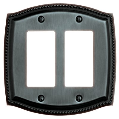Rope Design Double GFCI Switch Plate Finish: Venetian Bronze