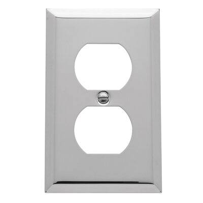 Classic Square Bevel Design Single Duplex Switch Plate Finish: Chrome