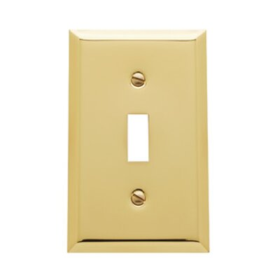 Classic Square Bevel Design Single Toggle Switch Plate Color: Polished Brass