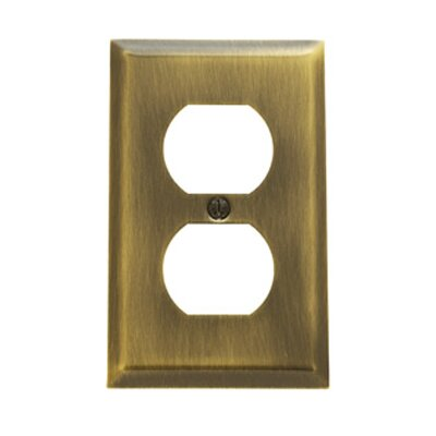 Classic Square Bevel Design Single Duplex Switch Plate Finish: Polished Brass