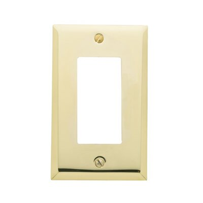Classic Square Bevel Design Single GFCI Switch Plate Color: Polished Brass