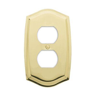 Colonial Design Single Duplex Switch Plate Finish: Polished Brass