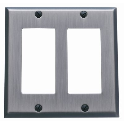 Classic Square Bevel Design Double GFCI Switch Plate Finish: Venetian Bronze
