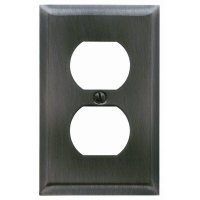 Classic Square Bevel Design Single Duplex Switch Plate Color: Satin Nickel
