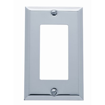 Classic Square Bevel Design Single GFCI Switch Plate Color: Polished Chrome