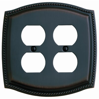 Rope Design Double Duplex Switch Plate Finish: Venetian Bronze