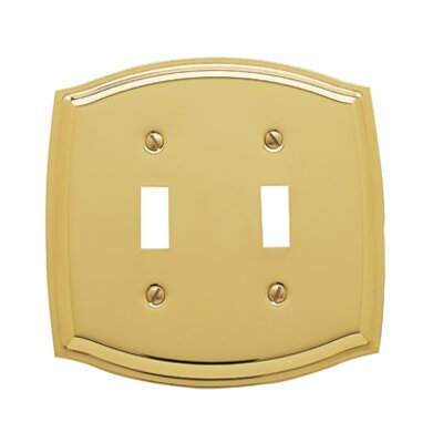 Colonial Design Double Toggle Switch Plate Finish: Polished Brass