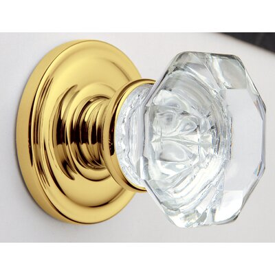 Filmore Half Dummy Crystal Knob with Rope Style Rose