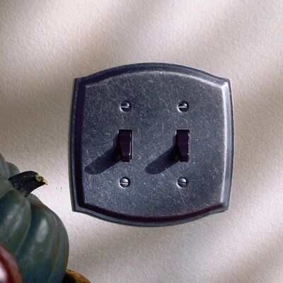 Colonial Design Double Toggle Switch Plate Finish: Venetian Bronze