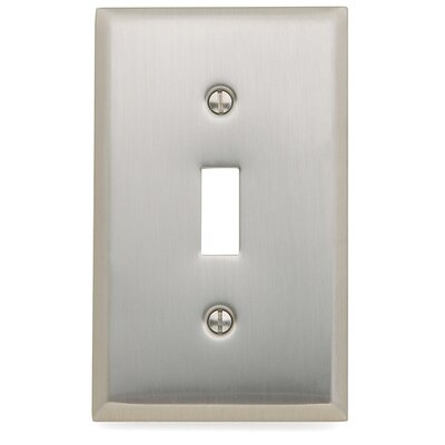 Classic Square Bevel Design Single Toggle Switch Plate Finish: Satin Nickel
