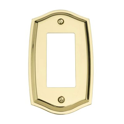 Classic Square Bevel Design Double Duplex Switch Plate Color: Bright Brass, Size: 7.4 H x 3.6 W x 0.3 D