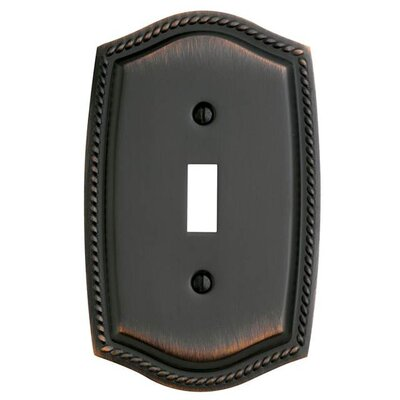 Single Toggle Rope Light Switch Plate