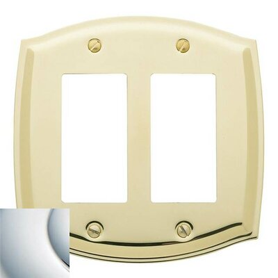 Colonial Design Double GFCI Switch Plate Finish: Bright Chrome, Size: 7.4 H x 5.2 W x 0.3 D