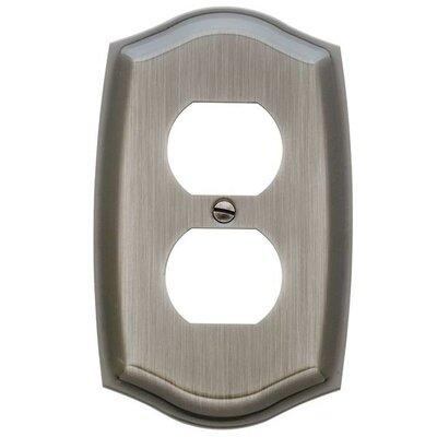 Colonial Design Single Duplex Switch Plate Color: Chrome
