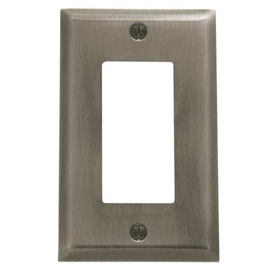 Classic Square Bevel Design Single GFCI Switch Plate Color: Antique Nickel