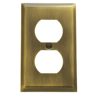 Classic Square Bevel Design Single Duplex Switch Plate Color: Venetian Bronze
