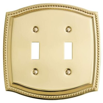 Double Toggle Rope Light Switch Plate