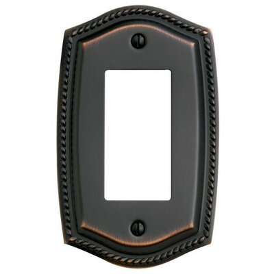 Single Rocker Rope Light Switch Plate Color: Venetian Bronze, Size: 7.4 H x 3.6 W x 0.2 D