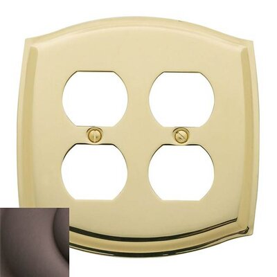 Colonial Design Double Duplex Switch Plate Finish: Venetian Bronze, Size: 7.4 H x 5.2 W x 0.3 D