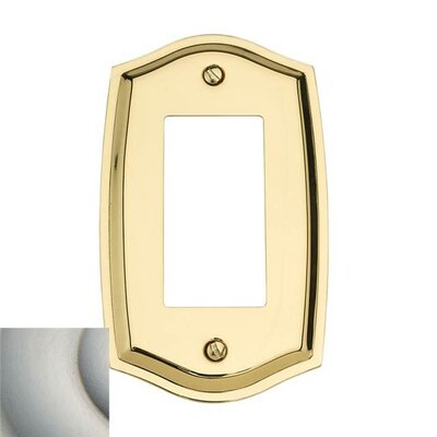 Classic Square Bevel Design Double Duplex Switch Plate Color: Satin Nickel, Size: 7.4 H x 3.6 W x 0.3 D