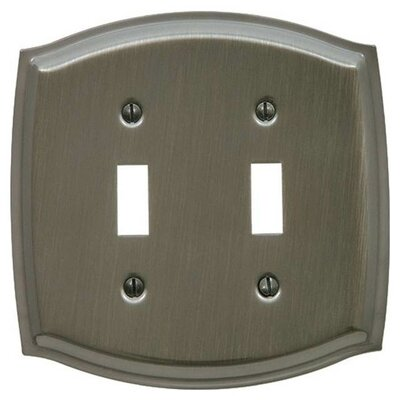 Colonial Design Double Toggle Switch Plate Color: Antique Nickel