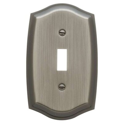 Colonial Design Single Switch Wall Plate Color: Antique Nickel