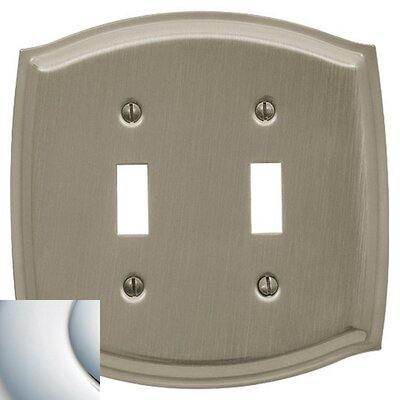Colonial Design Double Toggle Switch Plate Finish: Bright Chrome