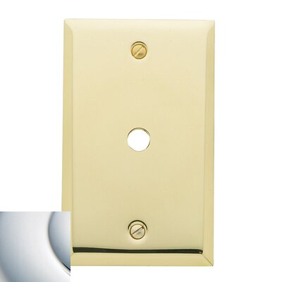Cable Cover Beveled Light Switch Plate Finish: Bright Chrome