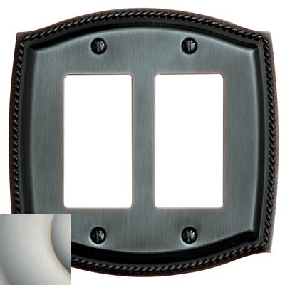 Rope Design Double GFCI Switch Plate Color: Satin Nickel