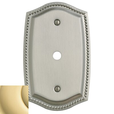 Cable Cover Rope Light Switch Plate Color: Bright Brass