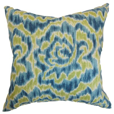 Arsenault Throw Pillow Cover Size: 18 x 18, Color: Aqua Green