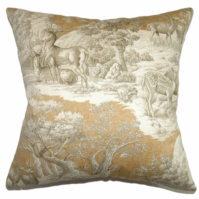 Elijah Toile Bedding Sham Size: Euro, Color: Safari