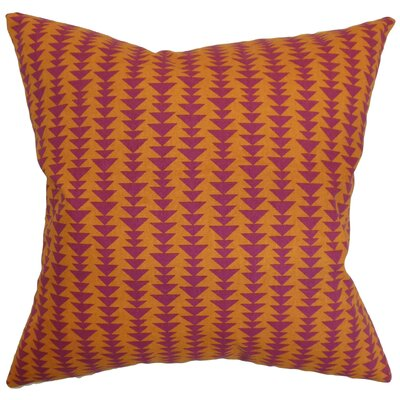 Harrell Geometric Cotton Throw Pillow Cover Size: 18 x 18, Color: Mango