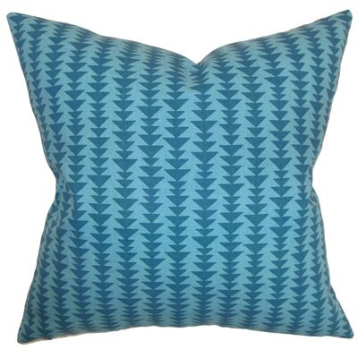 Harrell Geometric Cotton Throw Pillow Cover Size: 18 x 18, Color: Peacock