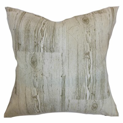 Sherilyn Graphic Throw Pillow Cover Size: 18 x 18, Color: Dove