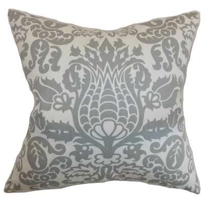 Cernobbio Floral Cotton Throw Pillow Cover Color: Storm