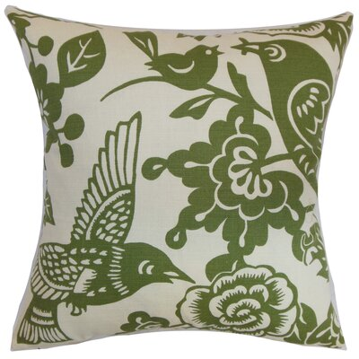 Campeche Floral Cotton Throw Pillow Cover Size: 18 x 18, Color: Moss