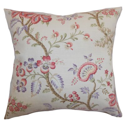 Quesnel Floral Throw Pillow Cover Size: 18 x 18, Color: Pastel