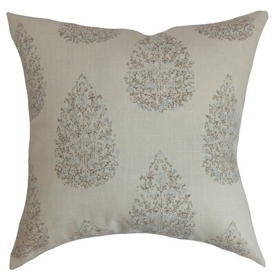 Faeyza Floral Throw Pillow Cover Size: 18 x 18, Color: Cocoa