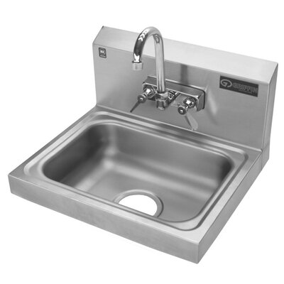 Hand Wash Sink with Gooseneck Faucet