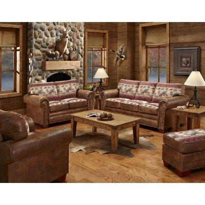 Deer Valley 4 Piece Living Room Set with Sleeper Sofa