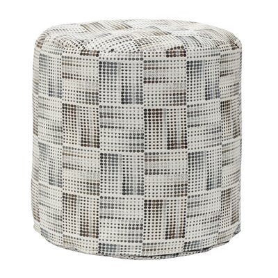 Matrix Charcoal Tapestry Pouf Ottoman