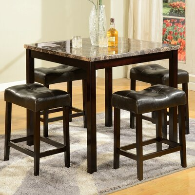 Traynor 5 Piece Counter Height Pub Table Set