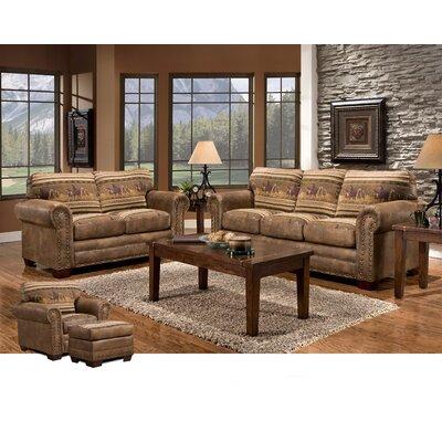 Wild Horses 4 Piece Living Room Set with Sleeper Sofa