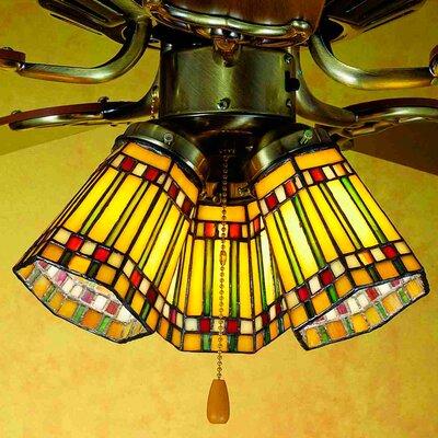 Prairie Corn 4 Glass Bowl Ceiling Fan Fitter Shade